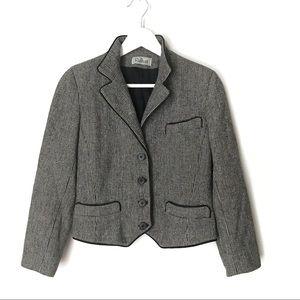 Vintage Raffinati Tweed Pure Wool Blazer. S
